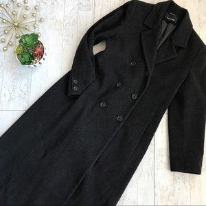 Jones New York dark charcoal wool blend coat 8